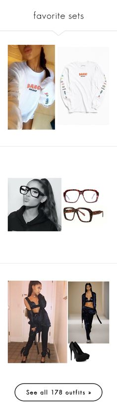 """""""favorite sets"""" by aglookbook ❤ liked on Polyvore featuring Urban Outfitters, Goliath, Victoria Beckham, Giuseppe Zanotti, Puma, Yves Saint Laurent, Fleur du Mal, Wolford, Harry Kotlar and LE VIAN"""