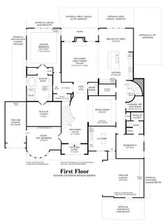 Main Floor Plan porte cochere Home Pinterest House