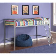 DHP Greeley Junior Loft Bed - Silver - 5458096