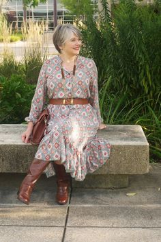 Made by a Fabricista: 70's Inspired Peasant Dress