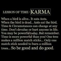 You live in denial the hurt you have caused others. Be good and do good.