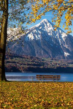 "Mount ""Niesen"" and lake ""Thunersee"""