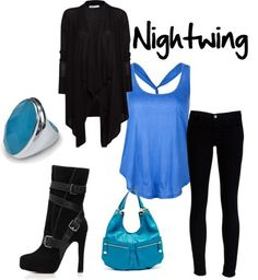 Love this outfit inspired by Nightwing