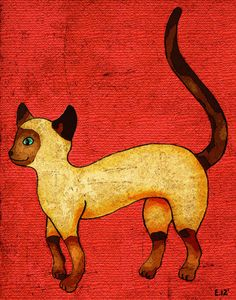 Siamese Cat by Cheezling Art