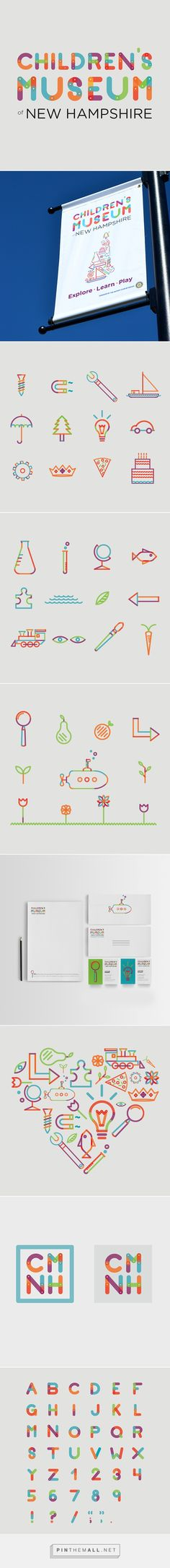 Children's Museum of New Hampshire Re-Brand on Behance. - a grouped images picture Children's Museum of New Hampshire Re-Brand on Behance - created via Corporate Design, Brand Identity Design, Graphic Design Branding, Logo Design, Corporate Branding, Illustration Inspiration, Graphic Design Inspiration, Brand Inspiration, Kids Branding