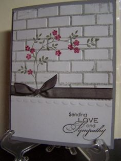 Darice embossing folder - BRICK WALL - Great for ALL-OCCASION cards