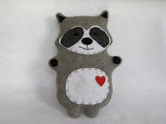 Raccoon woodland critter stuffed animal plush от TheHappyGroundhog