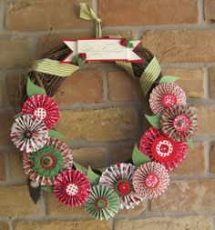 holiday stampin up wreath