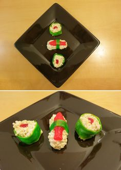 I made sushi rice crispy treats for my small group- they were a big hit!