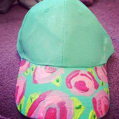 179a5bf7d3c DIY Lilly Pulitzer baseball hat
