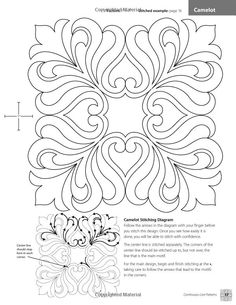 Continuous-Line Quilting Designs: 80 Patterns for Blocks, Borders ...