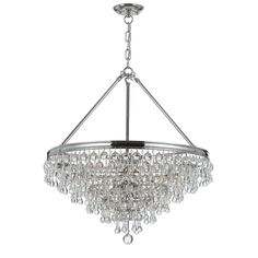 Buy the Crystorama Lighting Group Polished Chrome Direct. Shop for the Crystorama Lighting Group Polished Chrome Calypso 6 Light Wide Chandelier with Blown Glass Drops and save. Empire Chandelier, Mini Chandelier, Chandelier Lighting, Crystal Chandeliers, Bedroom Lighting, Gold Chrome, Polished Chrome, Transitional Chandeliers, Candelabra Bulbs