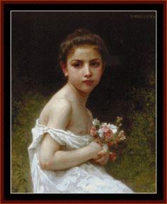 Bouguereau - Girl with Bouquet, 1896