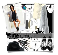 """Cute cardigan"" by mariamharrasova ❤ liked on Polyvore featuring Bobbi Brown Cosmetics, Marc by Marc Jacobs, Abercrombie & Fitch, Post-It, RVCA and Jeffrey Campbell"