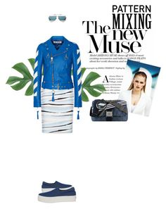 """Pattern Mixing: the New Muse of Trends"" by axel-lewi ❤ liked on Polyvore featuring BOSS Hugo Boss, Off-White, MISCHA, Opening Ceremony, Chanel and Christian Dior"