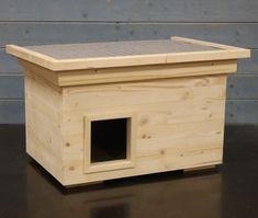 Katzenhaus voll isoliert Pultdach-JP!Holzdesign