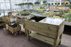 Kruidentafels en plantenbakken