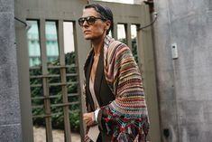 Ana Gimeno Brugada — The Locals – Street Style from Copenhagen and elsewhere Fashion Niños, Over 60 Fashion, Knitwear Fashion, Over 50 Womens Fashion, Knit Fashion, Grey Fashion, Milan Fashion, Cute Fashion, Fashion Outfits