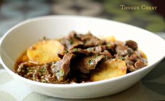 Ruchik Randhap (Delicious Cooking): Tongue Curry - When The Hubby Cooks!