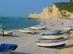 Things to do in Normandy, France. This is the small town of Etretat with great view and golf course