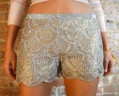 Basix Black Label Silk Fashion Shorts Brown/Tan/Taupe Beaded  Sequined Size 4  #BasixBlackLabel #fashion