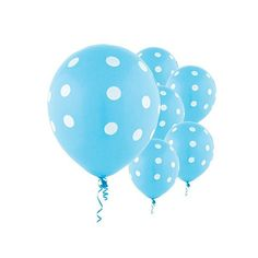 Light Blue Polka Dot Balloons 50 | Polka Dot Balloons Wedding | Birthday Parties | Baby Showers Balloons | Gender Reveal by PartySparkles on Etsy