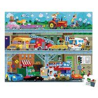 Janod Mini Toy Box Set historia bombero de madera del niño//niño figuras BN