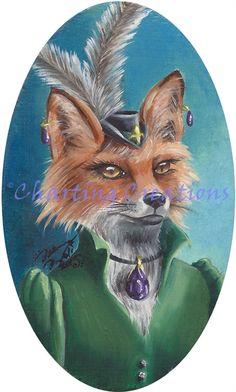Fox Art Print Mr Fox Mrs Fox Couple Victorian Foxes Fantasy Art Animal Art Foxes in Clothes Fox Fantasy, Fantasy Art, Mr Fox, Fox Art, Ink Color, Victorian Era, Cool Artwork, Original Artwork, Moose Art