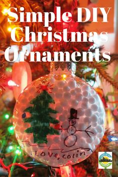 Making homemade ornaments is a great holiday activity for families. These DIY Christmas ornaments also help keep you gift budget in check. Cheap Christmas Ornaments, Frugal Christmas, Homemade Ornaments, Photo Ornaments, Personalized Christmas Ornaments, Homemade Christmas, Diy Christmas Gifts, Christmas Photos, All Things Christmas