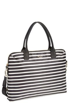 Free shipping and returns on kate spade new york 'daveney' laptop bag (15 Inch) at Nordstrom.com. Confidently store your laptop and tech essentials in this slim, lightly padded bag crafted in durable nylon and trimmed with crosshatched leather. Carry by the top handles, or use the optional crossbody strap for around-town ease.