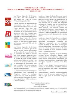 Le journal de BORIS VICTOR : INFORMATIONS SYNDICALES - L'APPEL DES UNIONS REGIO...