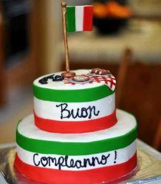 Buon Compleanno ~ Happy Birthday in Italian Happy Birthday Italian, Fondant Cakes, Cupcake Cakes, Italian Themed Parties, Italian Cake, Birthday Songs, Birthday Cakes, Birthday Wishes, Learning Italian