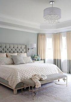 Schlafzimmer weiß grau samt kombination gesteppter kopfteil ...