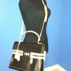 BLU STYLE Handbags - ITALIAN DESIGNER BLACK ITALIAN LEATHER HANDBAG