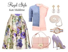 """""""Kate Middleton"""" by lovelycreola ❤ liked on Polyvore featuring Lela Rose, Gianvito Rossi, Jimmy Choo, Marc Jacobs, DaVonna, Julia Failey and Michael Kors"""
