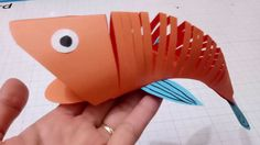 How to make a paper moving fish.Easy crafts 3D paper fish for kid.cute diy fish you need see