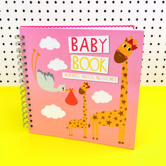 An adorable, pink baby book from the Tickle range. With places to stick or write things in, this book is a perfect gift for keeping the memories of the little lady stored safely away. A lovely book to be treasured forever! Party Accessories, New Baby Gifts, New Baby Products, This Book, Stationery, Range, Memories, Lady, Places