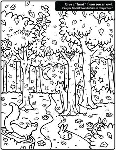 Kleurplaat: Hidden Owl Find coloring page