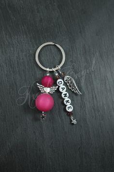 Schlüsselanhänger - Schutzengel Schlüsselanhänger ♥ Danke ♥ Flügel - ein Designerstück von Kreativ-Engel bei DaWanda