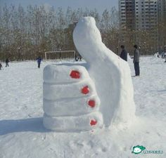 Funny snow sculptures from Northern China