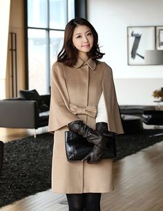 Long Gloves, Girls Uniforms, Teacher Style, Camel Coat, Daily Look, Leather Gloves, Vintage Leather, Fitness Fashion, Asian Beauty