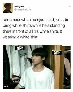 he basically eats white shirts too • @FluffySeoul • credits to owner #KpopMemes