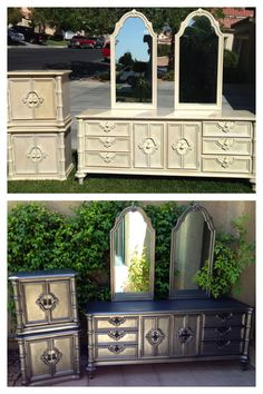 vintage shabby refinished painted before and after refurbished furniture diy make over kinda think the before of this was waaay better astonishing pinterest refurbished furniture photo