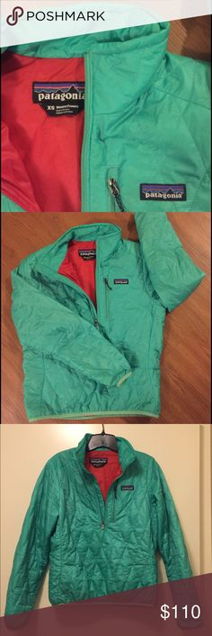 Seafoam green Patagonia nano puff pullover The prettiest seafoam green pullover on the planet, which unfortunately is too small for me now. I wore it for one light Austin winter, but now it hangs in my closet. Diamond quilting pattern, no signs of wear, chest pocket. Patagonia Jackets & Coats Puffers