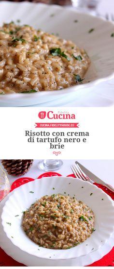 Risotto con crema di tartufo nero e brie della nostra utente Giovanna. Unisciti alla nostra Community ed invia le tue ricette!
