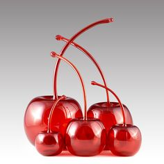 A wonderful addition to any kitchen or bar.  Maraschino Cherries by Donald Carlson: Art Glass Sculpture available at www.artfulhome.com