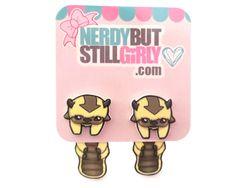 (Avatar: The Last Airbender) Chibi Sky Bison Cling Earrings • $12, via NerdyButStillGirly.com