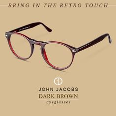 For the Achievers in Life! Bring in the retro touch with John Jacobs Dark Brown Round #Eyeglasses. Buy now! http://www.lenskart.com/john-jacobs-jj-1351-dark-brown-1041-eyeglasses.html #specs #glares #roundeyeglasses #roundspecs