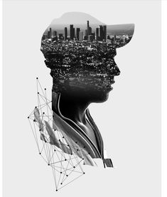 This looks like a double exposure picture mixed with some photoshop work. Photoshop Photography, Video Photography, Creative Photography, Portrait Photography, Photomontage, Multiple Exposure Photography, Double Exposition, Picture Mix, Photo Manipulation