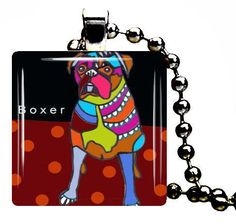 Boxer glass pendant Charm Necklace Dog Tag Jewelry Silver Metal Christmas Gift